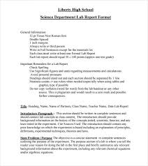 Example Of A Lab Report Sample Lab Report 10 Documents In Pdf Word Google Docs Apple Pages