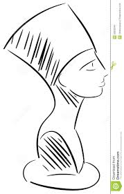 эскиз головы Nefertiti изолировал иллюстрация вектора иллюстрации
