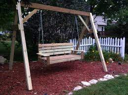 porch swing frame ana white diy projects 16 cedar a stand for or wood garden