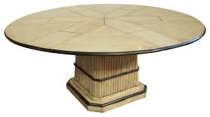 64 to 84 round to round expandable table with self storing leaves