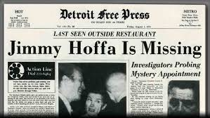 Image result for 1975, american labor leader jimmy hoffa vanishes