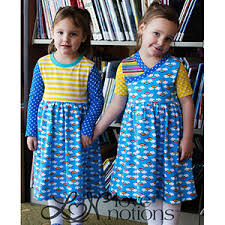 Love Notions Patterns New Love Notions Everyday Playdress Sewing Pattern Girl Charlee