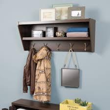 Prepac Fremont Espresso Entryway Cubbie Shelf And Coat Rack Floating Entryway Shelf Coat Rack By Prepac 88