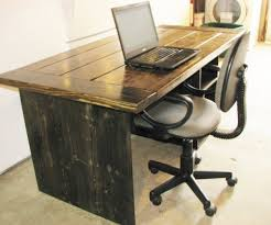 rustic shape teak wood computer desk. Medium-size Of Decent A Big Space Problem Brubaker With Rustic Computer Desk Shape Teak Wood I