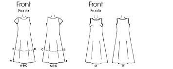 A Line Dress Pattern Stunning M48 Misses' Tent Dress In 48 Lengths Sewing Pattern McCall's