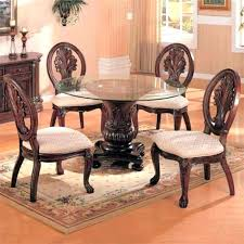 glass top pedestal dining table tables s with prepare 10