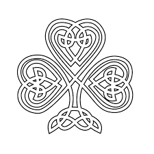 Small Picture shamrock Celtic Shamrock Black White Line Flower Art Coloring