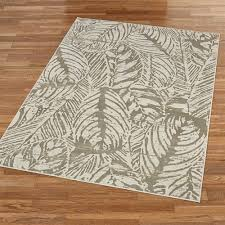 tropical palm leaf imprint area rugs imprint rectangle rug light cream