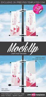 Free Lamp Post Banner Mock Up In Psd Free Psd Templates