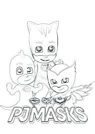 Pj Masks Coloring Pages Owlette Mask Free Printable Within Colouring