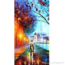 2018 100 hand painted abstract oil paintings walking with you in the rain no framed art work home decoration from paintingart2017 40 71 dhgate com