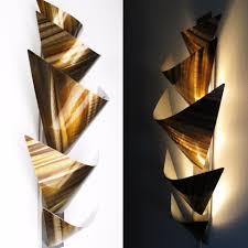 l12p aurora torchiere led series gold 28 x12 aluminum modern abstract metal wall art sculpture lamp sconce on abstract metal wall art sculpture with aurora torchiere series 40 x24 modern abstract metal wall art