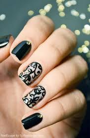 40 black nail art ideas