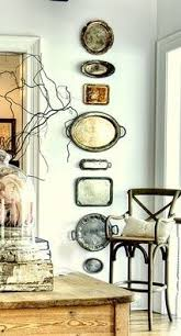 Decorating With Silver Trays Silver platter wreath Decorating Pinterest Wreaths Silver 23