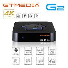 GTmedia G2 Tv Box decoder 2GB RAM 16GB ROM S905W Android 7.1 DRM Widevine  L1 4K HD 2.4G Built In Wifi Set Top Box IPTV Netflix - buy at the price of