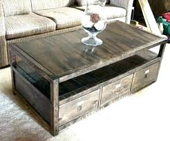 diy coffee table storage ottoman base round baseball