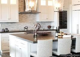 modern off white kitchen. White Kitchen Cabinet Quartz Countertop Brown Cabinets Modern Off C