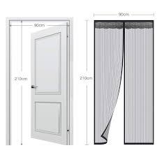 Faburo Magnet Fliegengitter Tür Insektenschutz 90x210cm