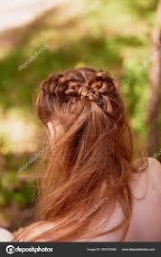Svatební účesy Pro Husté Zrzavé Vlasy Vlasy Stock Fotografie