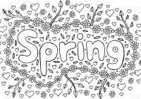 Spring Outline Coloring Page With Floral Elegant Wreath Stock