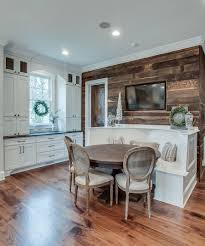 stylish accent wall in reclaimed wood for the modern kitchen design frenchs cabinet gallery