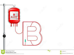 Telephony Alphabet Chart Blood Bag Type B Red Color And Alphabet Letter B Sign Shape