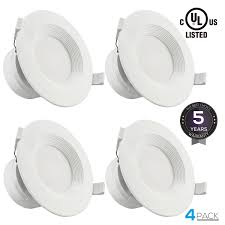 4 pack 4 led recessed downlight with junction box 7w 60w equivalent