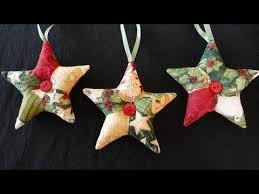 How to make 'patchwork' star ornaments for Christmas. These are ... & How to make 'patchwork' star ornaments for Christmas. These are the perfect  quick Adamdwight.com