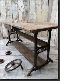 industrial furniture table. Simple Table Antique Industrial Furniture Recycled Metal Rustic Wooden Board Black  Stained For Dining Table Unique Blend Of And