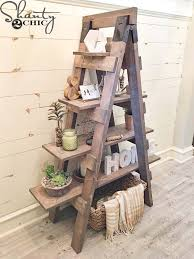 this bookshelf is amazing i love how rustic it looks and that they upcycled an older item to make it something new and useful