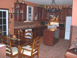 Red Floor Tiles For Kitchen Using Floor Tile For Kitchen Backsplash Two Metal Kitchen Chairs