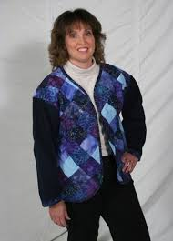 Best 25+ Quilted sweatshirt jacket ideas on Pinterest | Sweatshirt ... & Patchwork Quilted Sweatshirt Jacket Pattern DPC-201 (intermediate) Adamdwight.com