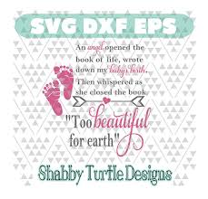 Too Beautiful For Earth Quote Best of Boy Girl To Beautiful For Earth Quote SVG DXF EPS Cutting