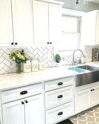 Tile Backsplash Ideas For White Cabinets Awesome Off White Backsplash Tile White Backsplash Tile Ideas White Cabinets
