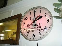 bulova advertising clock f stadtmuller jewelers 18 main st sayville n y 1950s 407115718