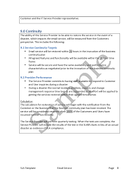 help desk service level agreement template service level agreement template edge it training and consulting inc