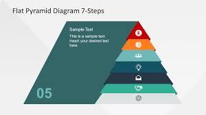 Pyramid Powerpoint 7 Steps Flat Pyramid Powerpoint Diagram Slidemodel