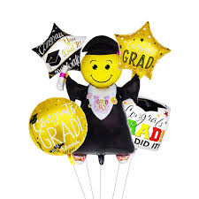 <b>5pcs</b> Graduation Balloons Graduation Gift <b>Cartoon</b> Globos Back To ...