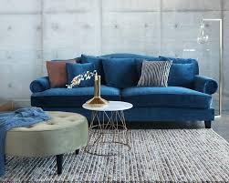 oz living furniture. Oz Design Coco Sofa In Blue Velvet With Maddison Tufted Ottoman Olive Green Marble Living Furniture N