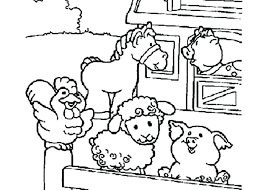 Farm Animals Coloring Sheets