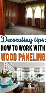 learn how to disguise or decorate around dated wood paneling