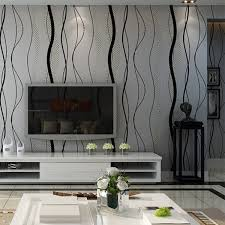 <b>Modern 3D Non-woven</b> Wallpaper Curve Stripe for Office Bedroom ...