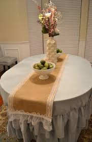 Burlap Round Table Overlays Burlap And Lace Table Runners For Wedding New Fashion Modern Font