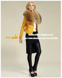 genuine women sheep leather jacket 100 real sheep leather jacket with rac fur collar