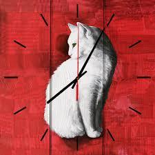 <b>Настенные часы</b> Белая кошка 50 х 50 см — купить в интернет ...