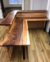 furniture thredup custom reception furniture live edge wooden desk toronto l shape full