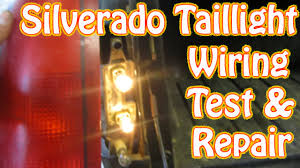 diy chevy silverado gmc sierra taillight repair how to test and repair tail lamp wiring brake light you