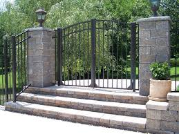 vinyl fence with metal gate. If You\u0027re Looking For The Images And Picture Samples Of Our Aluminum Deck Porch Railings, Fences, Driveway Gates, Vinyl Fence, Wrought Iron Fence With Metal Gate