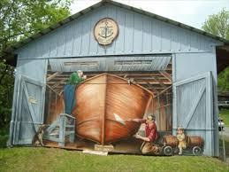 garage door artAndress Boat Works Garage Door Art  Rockport Ontario  Garage