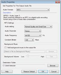 The Help Text Adding Background Music In A Text To Mp3 Conversion